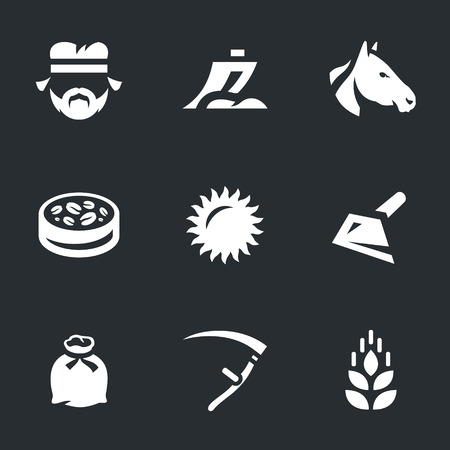 Vector Set of Agriculture Icons. Illustration
