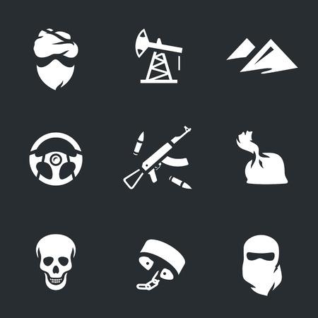 harem: Vector Set of Criminal activity Icons.