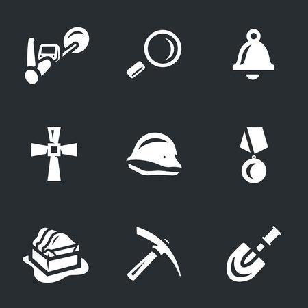 Wektor zestaw skarbów ikon. Ilustracje wektorowe