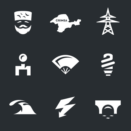Vector Set of Crimea Icons.