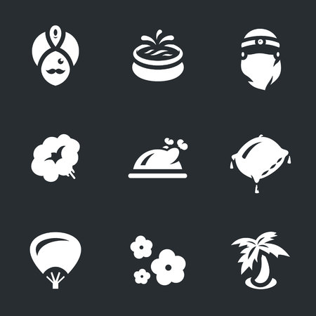 Vector Set of arabic Harem Icons. Illustration