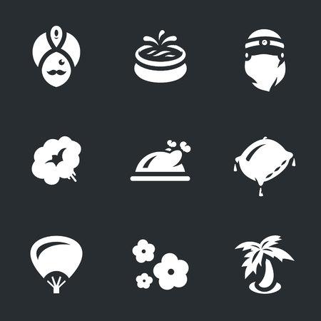 harem: Vector Set of arabic Harem Icons. Illustration