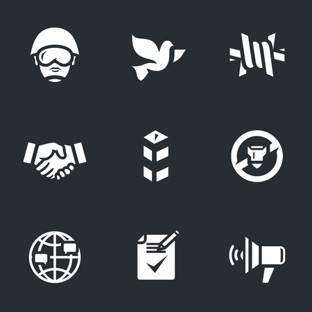 Set of Peacemaker Icons.