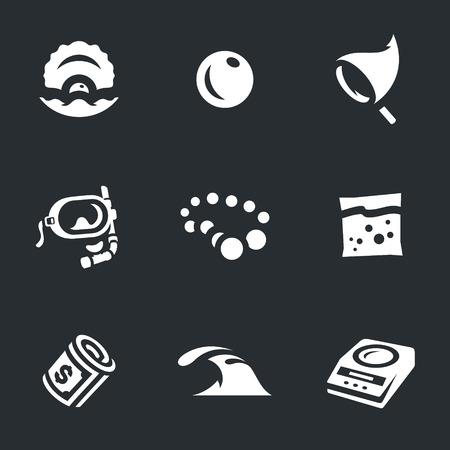 Set of Pearl farm Icons.