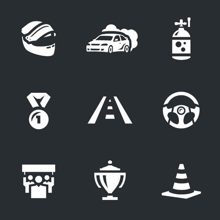 Vector Set of Auto Rally Icons.