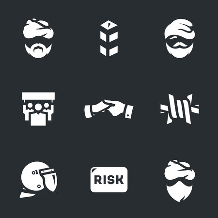 Vector Set of Immigration risk Icons. Illustration