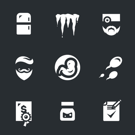 A Vector Icons Set of Reproduction Bank.