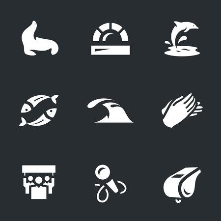 Vector Set of Dolphinarium Icons.