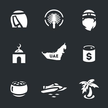 harem: Vector Set of UAE Icons.