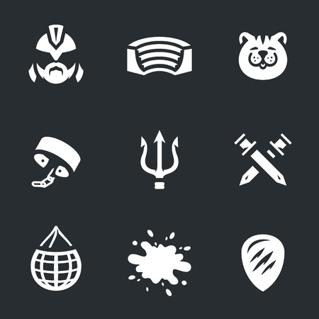 Vector Set of Gladiator Arena Icons.