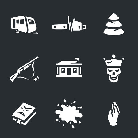 consternation: Vector Set of Horror Icons.