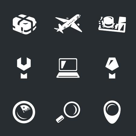Vector Set of Aircraft flight Recorder Icons.