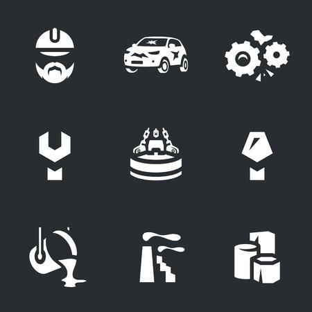 scrapyard: Vector Set of Scrap processing Icons.
