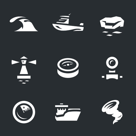 periscope: Vector Set of Sea navigation Icons.