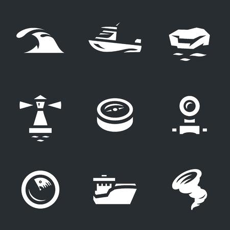 floe: Vector Set of Sea navigation Icons.