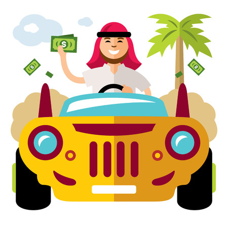 spender: Vector Spender of money concept. Flat style colorful Cartoon illustration. Illustration