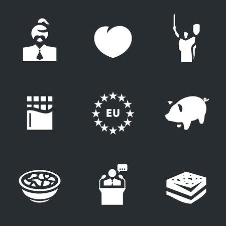 Vector Set of Ukraine Icons. Illustration