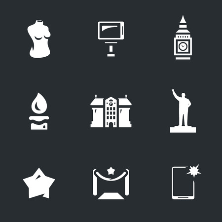 Vector Set of Wax figure show Icons.