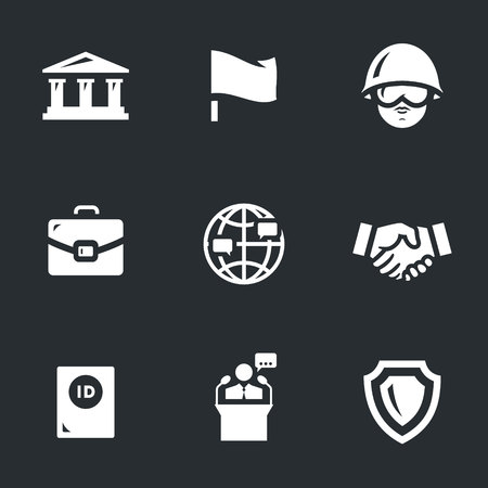 briefing: Vector Set of Embassy Icons.