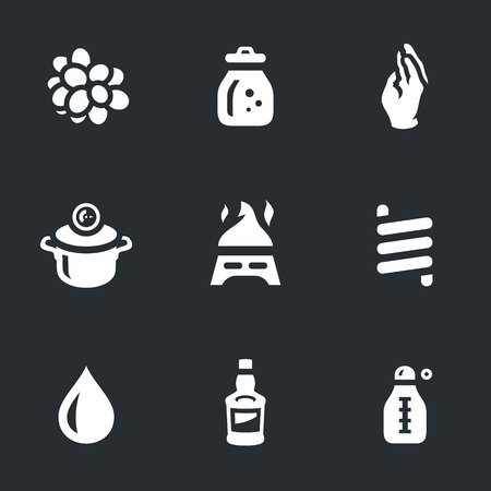Vector Set of Moonshine Boiling Icons.