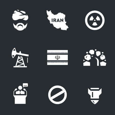 banned: Vector Set of Iran Icons.