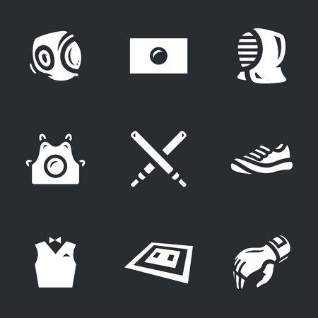 kudo: Vector Set of Kendo Icons. Illustration
