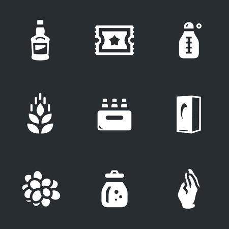 distilling: Bottle, excise stamp, thermometer, ear, alcohol box, packing, berry, flask, glove. Illustration