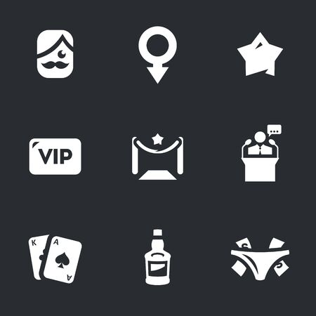 notability: Vector Set of Man Club Icons. Stock Photo