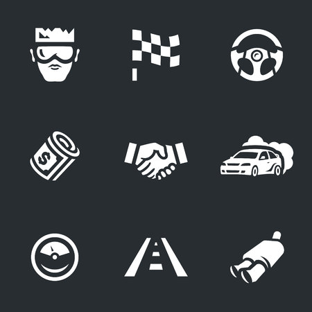 exclusive: Vector Set of Street racing Icons.