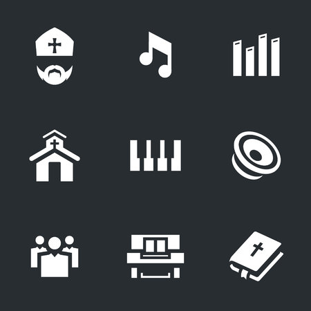 Vector Set of Religion Icons. Illustration