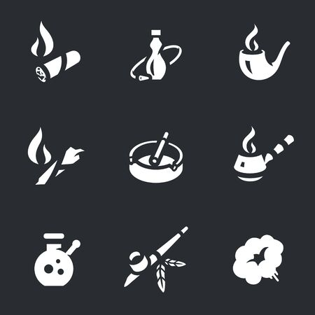 Vector Set of Smoking Icons.
