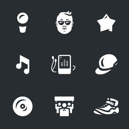 celebrities: Vector Set of Music rap star Icons.