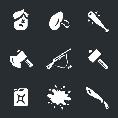eerie: Vector Set of Survival tools Icons. Illustration