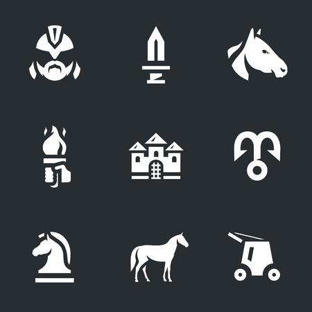 Vector Set of Trojan horse Icons.