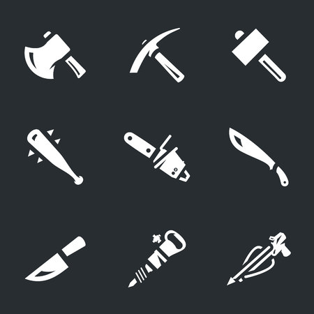 Vector Set Weapons for zombies Icons.