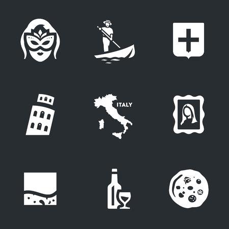 territories: Vector Set of Venice Icons.