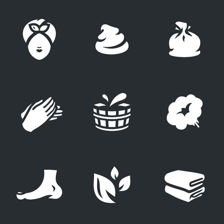 salon and spa: Vector Set of Bath Icons.