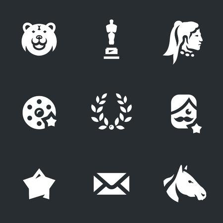 star award: Vector Set of Movie Award Icons. Illustration