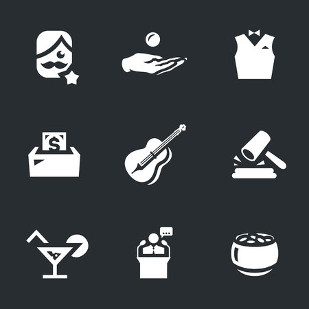 celebrities: Vector Set of Charity Event Icons.