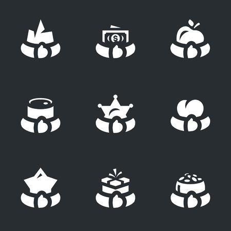 Vector Set of Greed Icons.