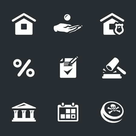 black family: Vector Set of Mortgage Icons. Illustration