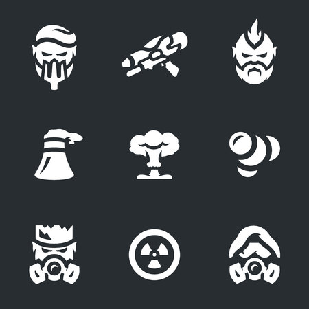 Vector Set of Post-apocalypse Icons.