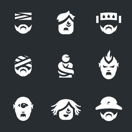 nuthouse: Vector Set of Nuthouse people Icons. Illustration