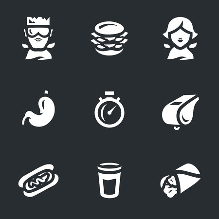 Vector Set of Fast Eating Icons.