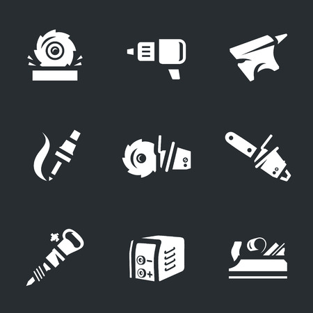 Vector Set of Work Tool Icons.
