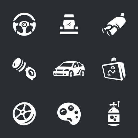 Vector Set of Auto tuning Icons.