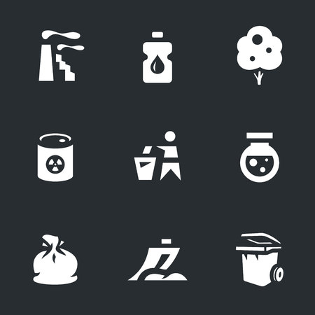 Vector Set of Enviroment protection Icons. Illustration