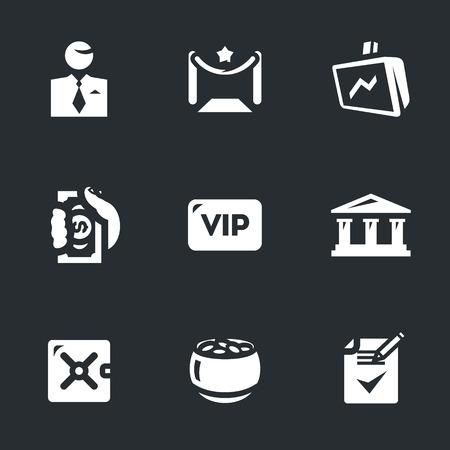 celebrities: Vector Set of Bank vip service Icons.