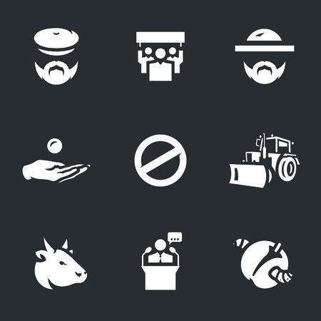 agronomist: Vector Set of Agricultural sanctions Icons. Illustration