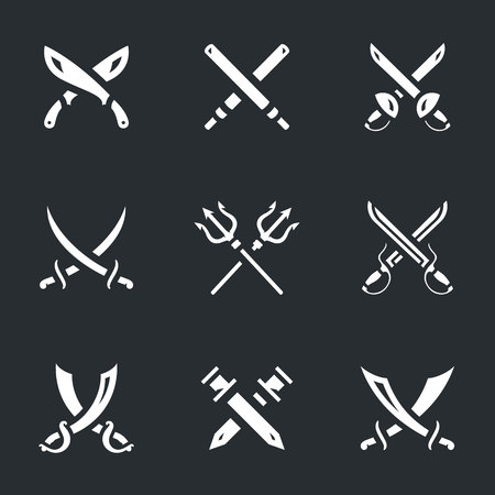 Set of Crossed Arms Icons.
